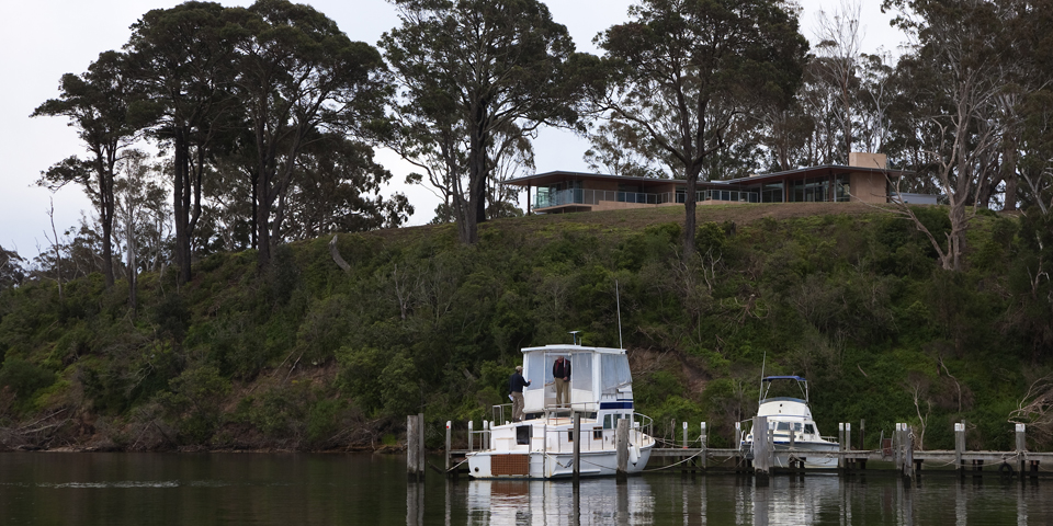 The house as viewed from Chinamans creek