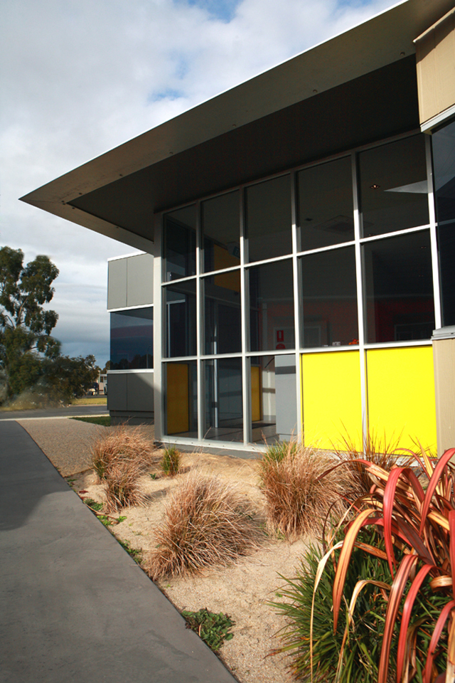 The Crossco office entry uses a bright yellow as its feature colour
