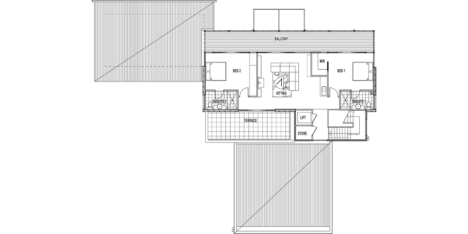 The ground floor plan of this Tinamba house is primarily for entertaining